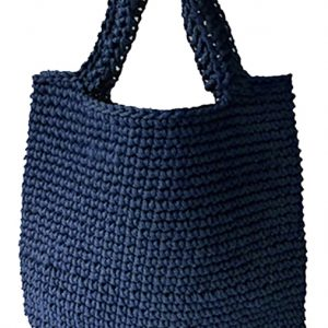 anything tote bag dark lake blue