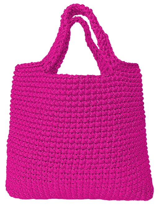 hot pink tote bag everly collection