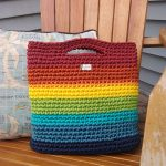 rainbow handle bag Adirondack chair