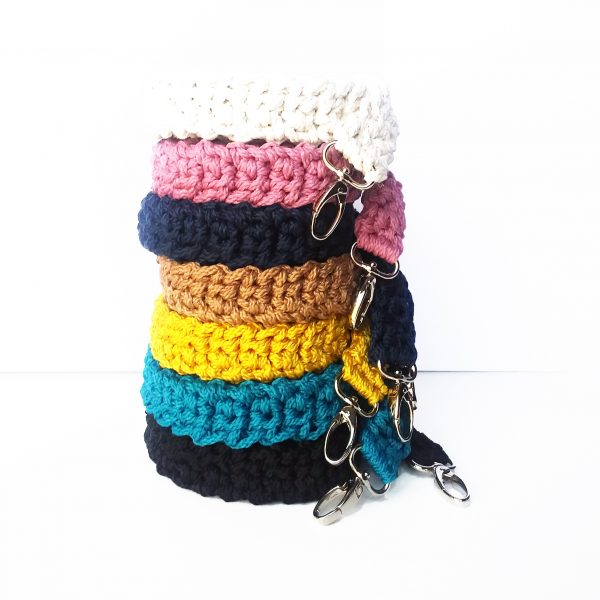macrame crocheted bag camera strap
