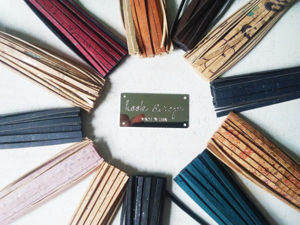 collection of cork leather tassels